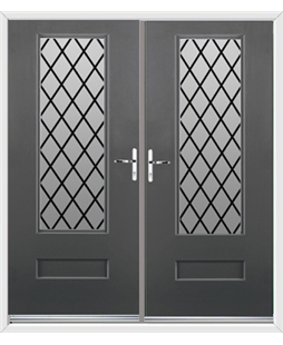 Vogue French Rockdoor in Slate Grey with Diamond Lead