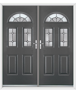 Tennessee French Rockdoor in Slate Grey with Ellipse