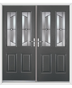 Jacobean French Rockdoor in Slate Grey with Ellipse