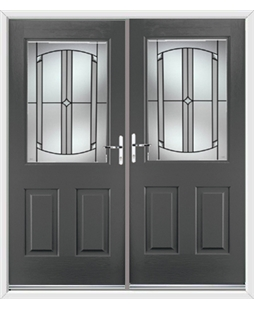 Windsor French Rockdoor in Slate Grey with Ellipse