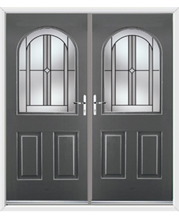 Kentucky French Rockdoor in Slate Grey with Ellipse