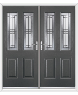 Jacobean French Rockdoor in Slate Grey with Empire