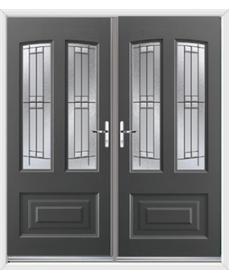 Illinois French Rockdoor in Slate Grey with Empire