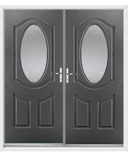 Montana French Rockdoor in Slate Grey with Gluechip