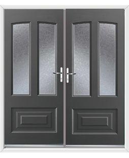 Illinois French Rockdoor in Slate Grey with Gluechip Glazing