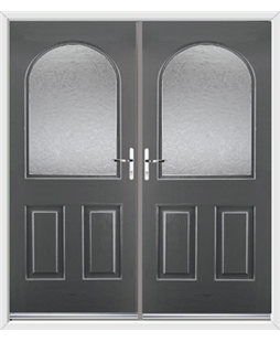 Kentucky French Rockdoor in Slate Grey with Gluechip Glazing