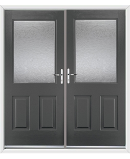 Windsor French Rockdoor in Slate Grey with Gluechip Glazing