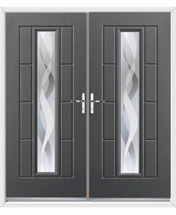 Vermont French Rockdoor in Slate Grey with Haze