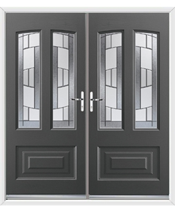 Illinois French Rockdoor in Slate Grey with Inspire