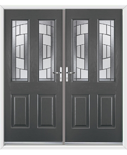 Jacobean French Rockdoor in Slate Grey with Inspire