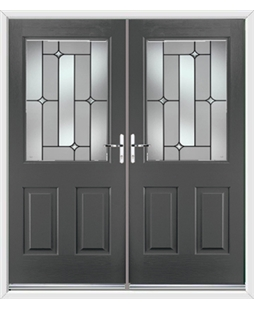 Windsor French Rockdoor in Slate Grey with Linear