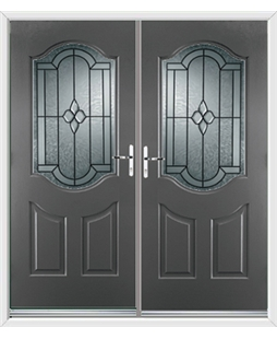 Georgia French Rockdoor in Slate Grey with Northern Star