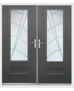 Vogue French Rockdoor in Slate Grey with Ocean Glazing