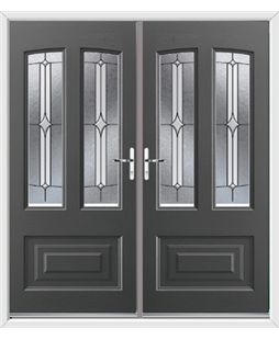 Illinois French Rockdoor in Slate Grey with Pinnacle