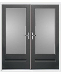 Classic French Rockdoor in Slate Grey with Glazing