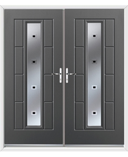 Vermont French Rockdoor in Slate Grey with Quadra