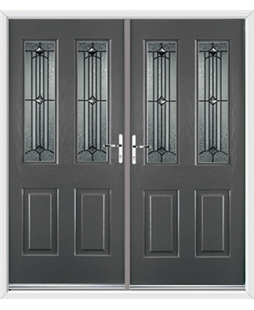 Jacobean French Rockdoor in Slate Grey with Scorpio