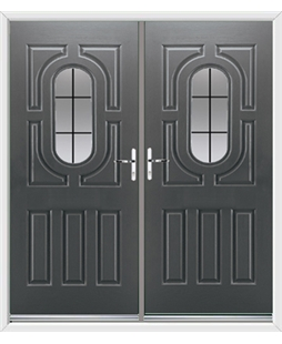 Arcacia French Rockdoor in Slate Grey with Square Lead