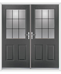 Windsor French Rockdoor in Slate Grey with Square Lead