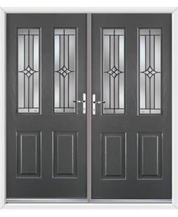 Jacobean French Rockdoor in Slate Grey with Summit