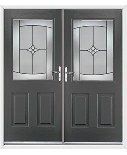 Windsor French Rockdoor in Slate Grey with Summit