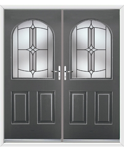 Kentucky French Rockdoor in Slate Grey with Summit