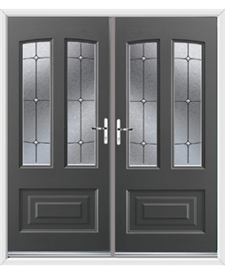 Illinois French Rockdoor in Slate Grey with Trinity