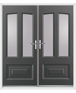 Illinois French Rockdoor in Slate Grey with Glazing