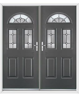 Tennessee French Rockdoor in Slate Grey with Summit