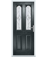 The Aberdeen Composite Door in Grey (Anthracite) with Eclipse Glazing