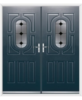 Arcacia French Rockdoor in Anthracite Grey with Black Diamonds