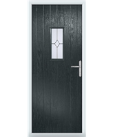 The Taunton Composite Door in Grey (Anthracite) with Classic Glazing