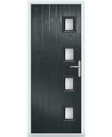 The Preston Composite Door in Grey (Anthracite) with Clear Glazing