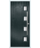 The Norwich Composite Door in Grey (Anthracite) with Clear Glazing