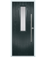 The York Composite Door in Grey (Anthracite) with Clear Glazing