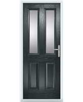 The Cardiff Composite Door in Grey (Anthracite) with Clear Glazing