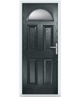 The Derby Composite Door in Grey (Anthracite) with Glazing