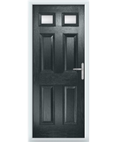 The Ipswich Composite Door in Grey (Anthracite) with Clear Glazing