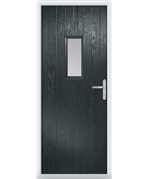 The Taunton Composite Door in Grey (Anthracite) with Clear Glazing
