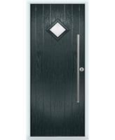 The Wolverhampton Composite Door in Grey (Anthracite) with Glazing