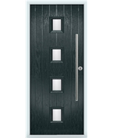 The Leicester Composite Door in Grey (Anthracite) with Clear Glazing