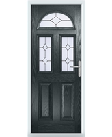 The Glasgow Composite Door in Grey (Anthracite) with Crystal Diamond