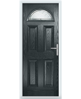 The Derby Composite Door in Grey (Anthracite) with Diamond Cut