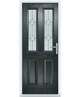 The Cardiff Composite Door in Grey (Anthracite) with Classic Glazing