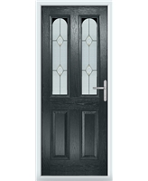 The Aberdeen Composite Door in Grey (Anthracite) with Classic Glazing