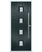 The Leicester Composite Door in Grey (Anthracite) with Finesse Glazing