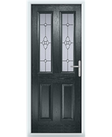 The Cardiff Composite Door in Grey (Anthracite) with Finesse Glazing