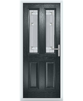 The Cardiff Composite Door in Grey (Anthracite) with Milan Glazing