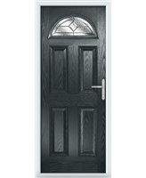 The Derby Composite Door in Grey (Anthracite) with Simplicity