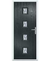 The Uttoxeter Composite Door in Grey (Anthracite) with Zinc Art Abstract